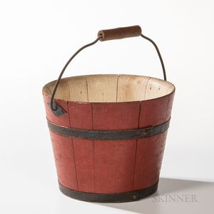 Shaker Red-painted Berry Pail