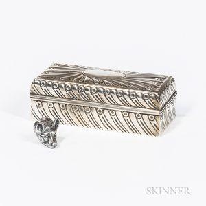 Elizabeth II Sterling Silver Pillbox by Tiffany & Co.