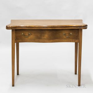 Federal-style Maple Serpentine-front One-drawer Card Table