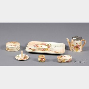Seven Royal Worcester Porcelain Items
