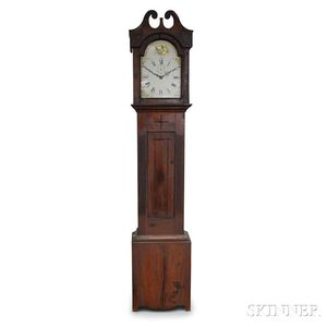 Carved Walnut Eight-day Pull-up Tall Clock