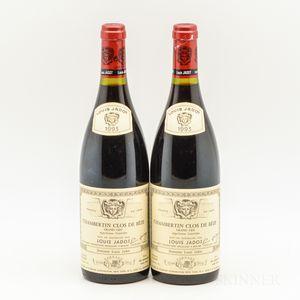 Louis Jadot Chambertin Clos de Beze 1993, 2 bottles