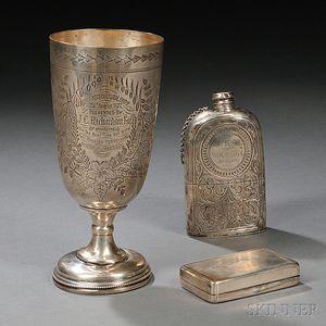 Three Pieces of Silver Hollowware