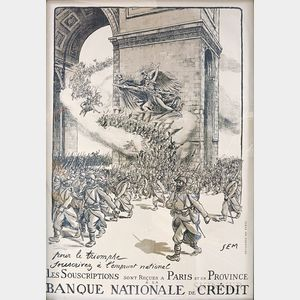 Framed Banque Nationale de Credit   Poster
