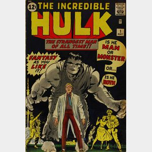 Sold for: $5,333 - Silver Age The Incredible Hulk  , No. 1
