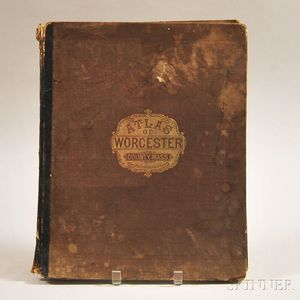 Atlas of Worcester County Massachusetts from Actual Surveys