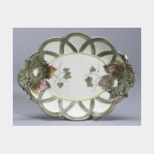 Wedgwood Argenta Majolica Oval Serving Dish