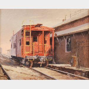 Ward Palmer Mann (American, 1921-2005)      Depot/Pittsford, N.Y.