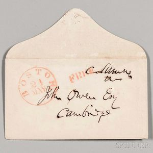 Sumner, Charles (1811-1874) Three Clipped Signatures and Free Frank.