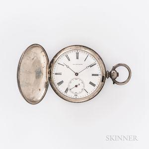 Coin Silver Civil War Pocket Watch Identified to Lieutenant Edward Rowe, 8th Regiment Massachusetts Volunteer Militia