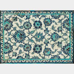 Ceramic Blue and White Tile