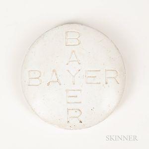 """Plaster """"Bayer"""" Pill Advertising Item"""