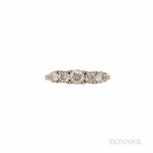 14kt Gold and Diamond Five-stone Ring