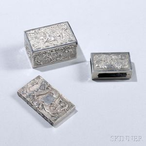 Three Pieces of Chinese Export Silver