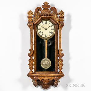 """Oak Ingraham """"Arctic"""" Wall Clock"""
