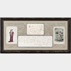 Bernhardt, Sarah (1844-1923) Autograph Letter Signed, 1916.