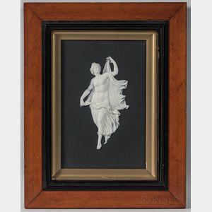Framed Wedgwood Solid Black Jasper Plaque