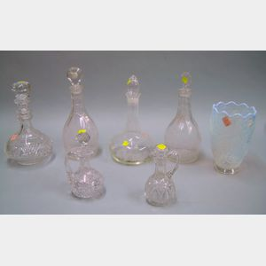 Group of Colorless and Opalescent Glassware