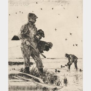 Frank Weston Benson (American, 1862-1951)      Winter Wildfowling