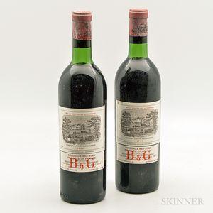 Chateau Lafite Rothschild 1966, 2 bottles