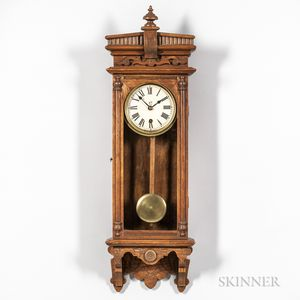 "Oak Waterbury ""Halifax"" Wall Clock"