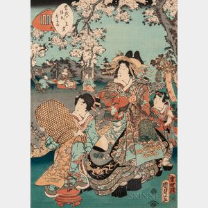 Utagawa Kunisada II (1823-1880), Woodblock Print