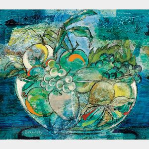 June Bellamy (Burmese/Italian, 20th Century)      Natura Morta Con Uva