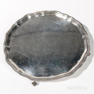 George VI Sterling Silver Salver