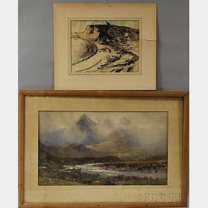 Two Works:       Arthur Trevithin Nowell (British, 1862-1940), Highland Landscape
