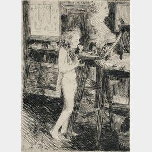 Emil Fuchs (American, 1866-1929)      Model in Studio