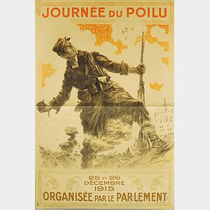 Maurice Neumont Journée du Poilu   French WWI Lithograph Poster