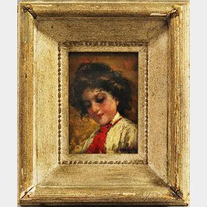 John Califano (Italian/American, 1862-1946)      Portrait of Young Woman