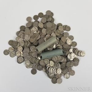 Large Group of Mostly Buffalo and Jefferson War Nickels.