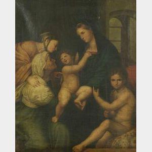 After Raphael Sanzio (Italian, 1483-1520)  Madonna of the Cloth, c. 1514.