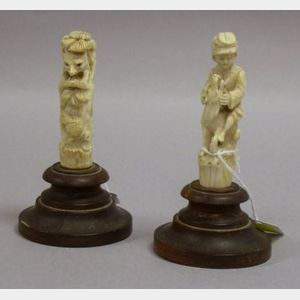 Two European Carved Ivory Figures