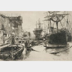 Otto Henry Bacher (American, 1856-1909)      Two Venetian Views: Laguna Venita