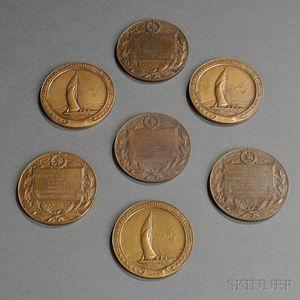 Seven Bronze Seawanhaka Corinthian Yacht Club Medals