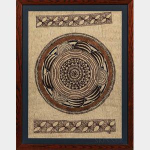 Contemporary Niue Tapa Artwork