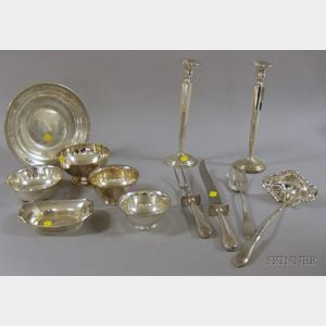 Twelve Sterling Silver Serving and Table Items