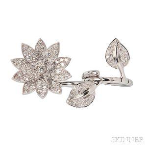 "18kt White Gold and Diamond ""Lotus"" Ring, Van Cleef & Arpels"