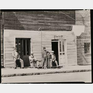 Sold for: $3,998 - Walker Evans (American, 1903-1975)      Barber Shop, Vicksburg, Mississippi