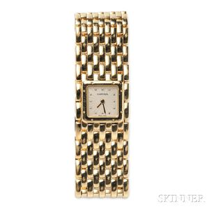 "Lady's 18kt Gold ""Panthere Ruban"" Wristwatch, Cartier"