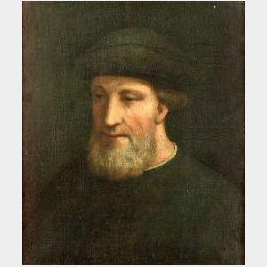 Florentine School, 16th Century Style  Portrait of a Bearded Man