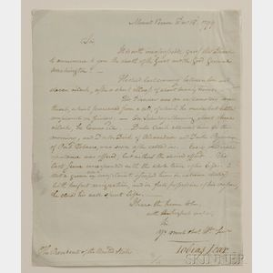 Sold for: $108,000 - Washington, George (1732-1799) Letter to President John Adams (1735-1826), Signed by Tobias Lear (1726-1816), An Account of the First P