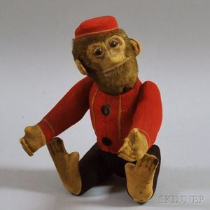 Vintage Schuco Yes/No Bellhop Monkey