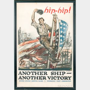 Framed WWI Hip-Hip! Another Ship Another Victory   Poster