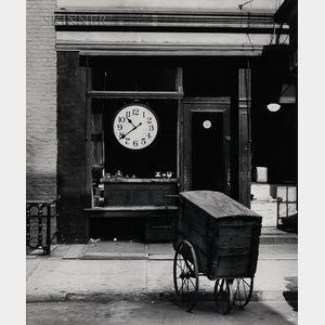 Berenice Abbott (American, 1898-1991)      Repair Shop of Christopher Street