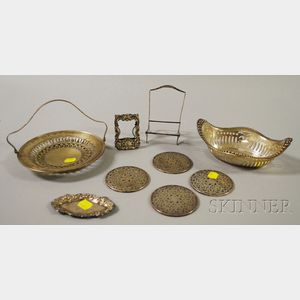 Group of Assorted Mostly Sterling Silver and Silver-mounted Tableware