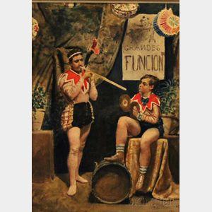 Germán Valdecara y González (Spanish, b. 1849)      Circus Musicians