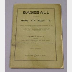 Baseball and How to Play It